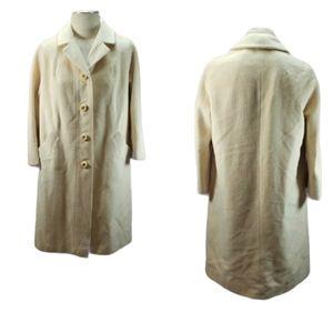 Vintage 60's 100% Cashmere Trench Coat Size M